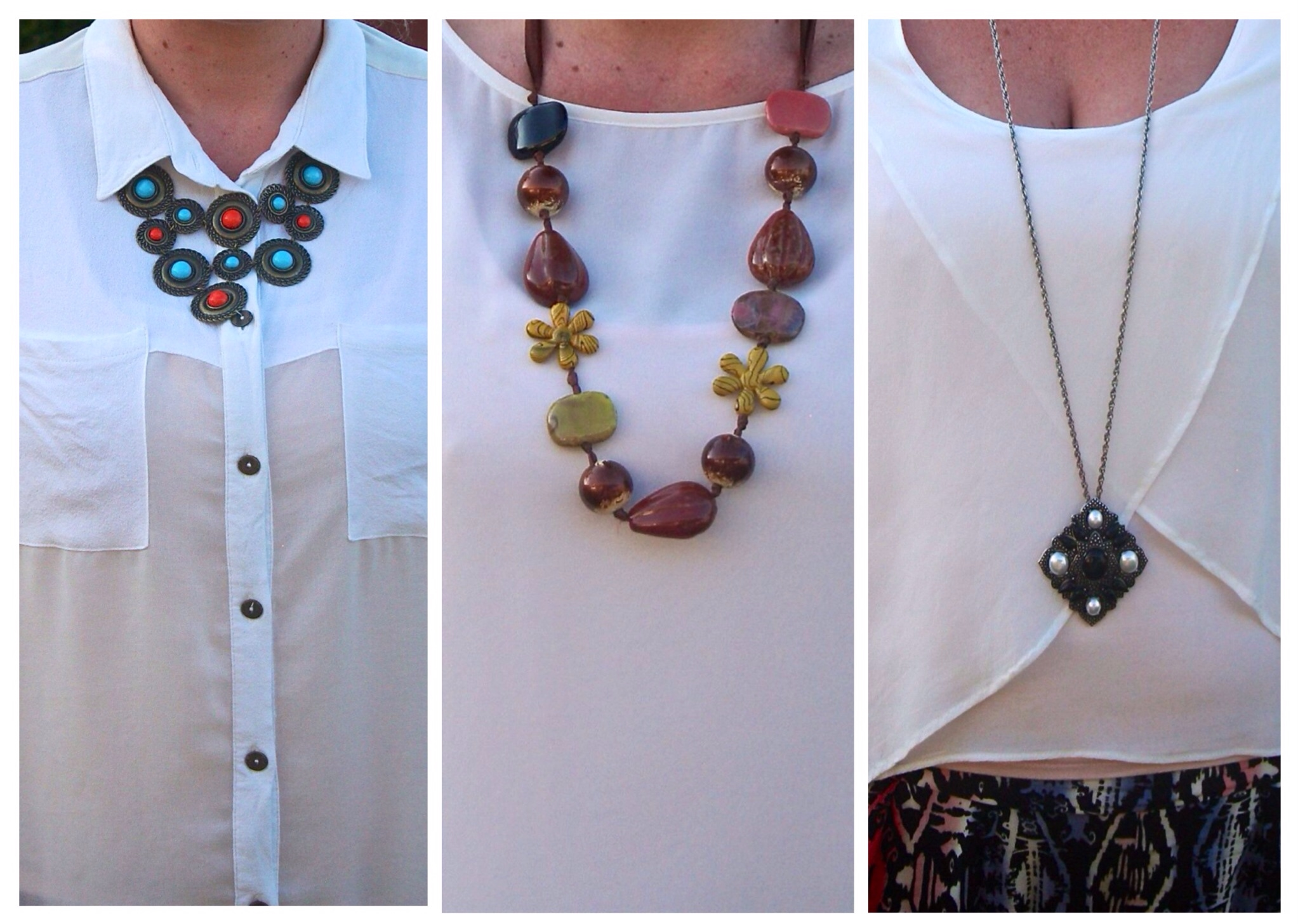 3 necklines 3 necklaces how can i wear that has a new home for Words to wear jewelry